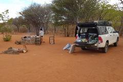 Porcupine camp site near Kamanjab in Namibia