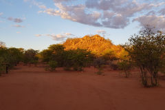 Sunset at Porcupine camp site near Kamanjab in Namibia