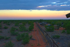 Fence of the Oliphantus Camp in Etosha National Park Namibia