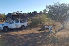 First real outdoor camp site at Mesosaurus Fossils camp site near Keetmanshoop Namibia