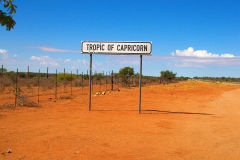 Tropic of Capricorn in Namibia between Windhoek and Keetmanshoop