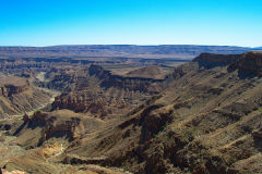 The Fish River Canyon in Namibia at Hobas Viewpoint
