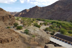 Overview of the middle part of the Ais-Ais camp site in the Fish River Canyon Namibia