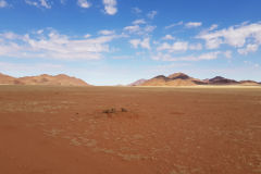 Desert landscape in Namib Desert in Namibia
