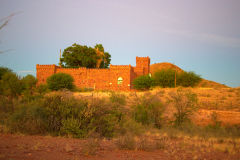 Duwisib Castle in Namibia in the Namib Desert