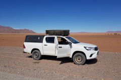 Toyota Hilux in Namib-Naukluft National Park Namibia