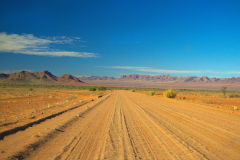 Dirt road in Namib-Naukluft National Park Namibia