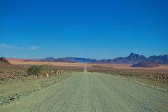 Dirt road in Namib-Naukluft National Park Namibia