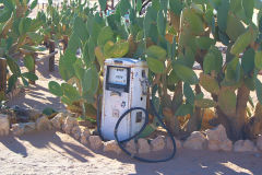Old fuel pump in Solitaire in Namib Naukluft National Park Namibia
