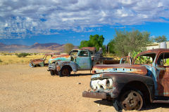 Old cars in Solitaire in Namib Naukluft National Park Namibia