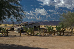 Old car in Solitaire in Namib Naukluft National Park Namibia