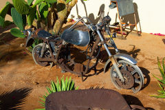 Old motor bike in Solitaire in Namib Naukluft National Park Namibia