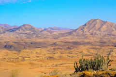 Desert landscape  at A Valley of a Thousand Hills Campsite Namibia