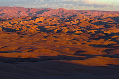 Desert landscape during sunset at A Valley of a Thousand Hills Campsite