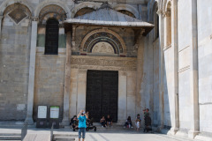 Door of the Pisa cathedral in Pisa, Italy