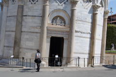Entrance door of the Leaning Tower of Pisa, Italy